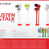 Audionic set of earphones