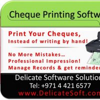 Cheque Printer and Software