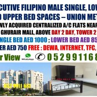 Room, Partition and Bed Spaces for Filipinos Near Union, Rigga and Salah Al Din Metro Stations, Deira