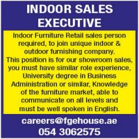 Required Indoor Sales Executive