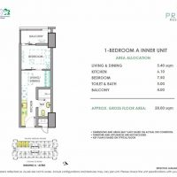 For Sale 12K/Month 2BR Condo in PRISMA RESIDENCES Pineda Pasig near SM Mega Mall, c5 Taguig, SM Aura, Mckinly Hill