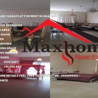 NEAT AND CLEAN THREE BEDROOM FLAT FOR RENT IN KHALIDIYA