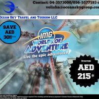 Economic IMG World of Adventure Tickets @ just AED 215 – Dubai