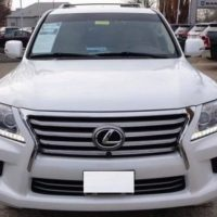 LEXUS LX 570 2015 WHITE COLOR, CLEAN