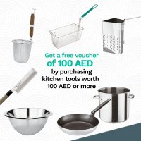 100 AED FREE Voucher for Kitchen Tools